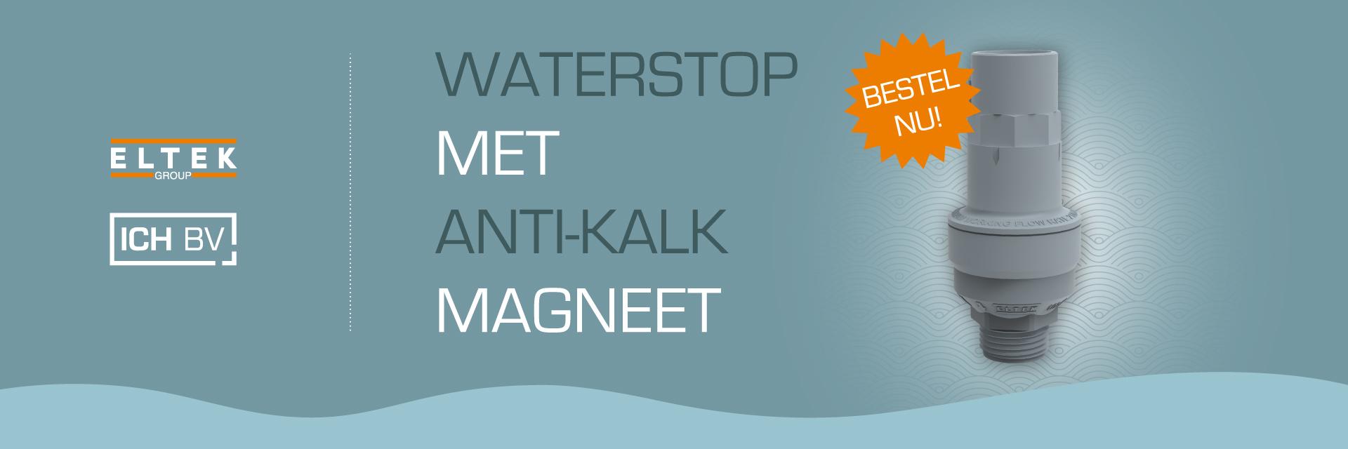 Waterstop met anti-kalk magneet